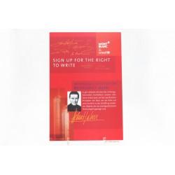 Montblanc Unicef-Edition Helmut Jahn Pen Advertising Store Cardboard Display