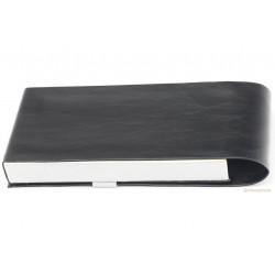 Pen Pouch Flap Closure Leatherette Black Silver for 3-4 Pen NOS